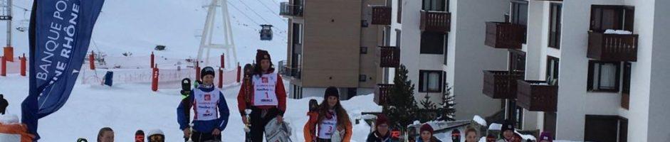 Podium à la coupe de Noël 1er étape du championnat de France à Val Thorens U16 un grand bravo à Zoé Douat 3ième en Slalom!!!!